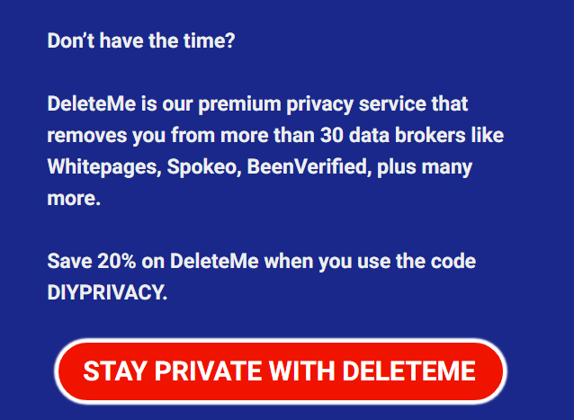 How to protect privacy with DeleteMe