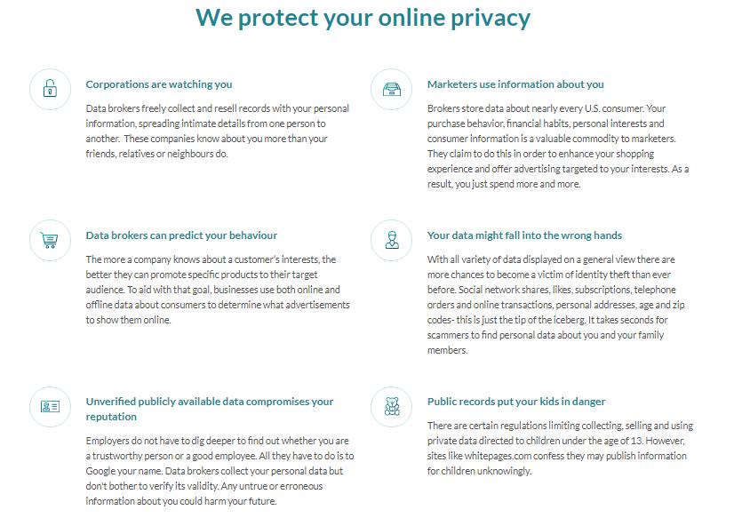 OneRep online privacy