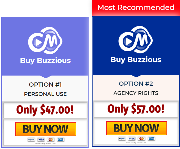 Pricing Plans of Buzzious
