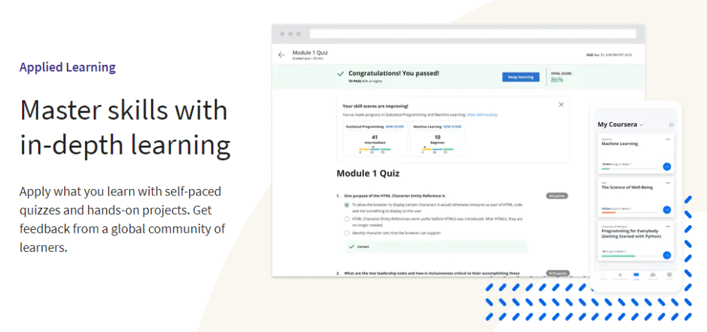 Applied Learning - Coursera