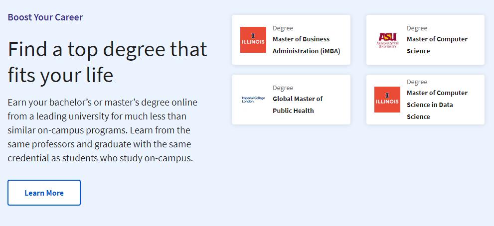 Boost your career Courseera