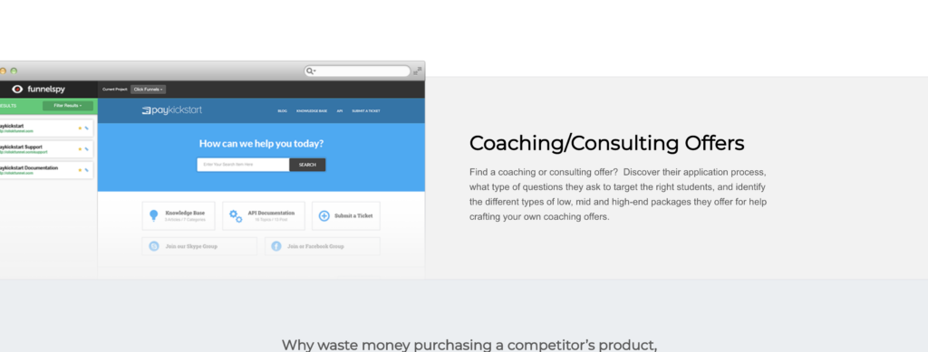 Coaching Consulting Offers FunnelSpy