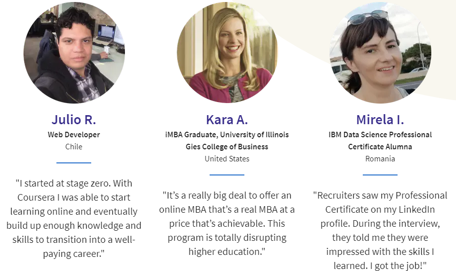 Coursera Reviews by students