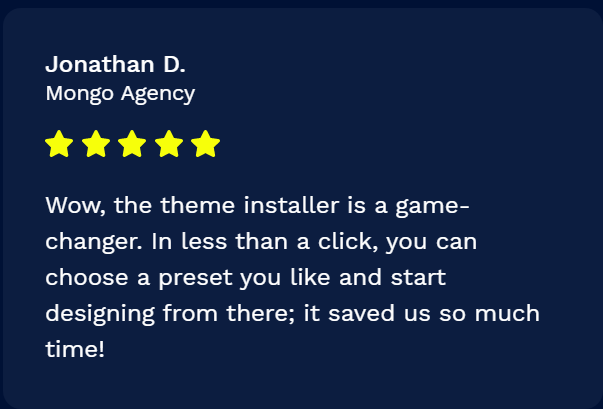 Customer Reviews of Booster Themes