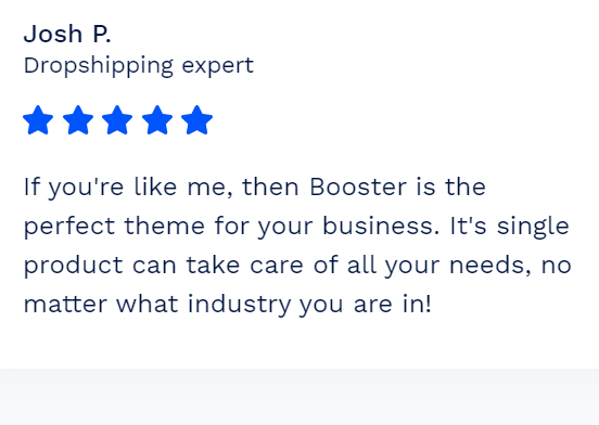 Customer Reviews - Shopify Booster Reviews