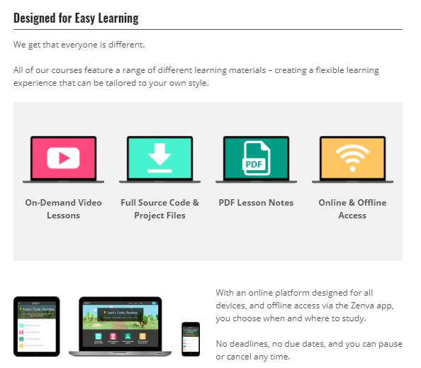 Designed for Easy Learning - Zenva Academy