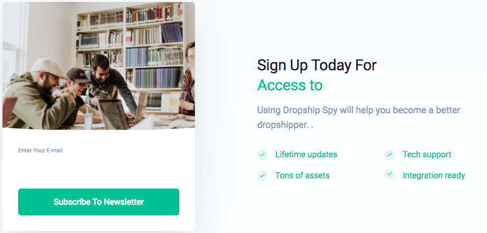 Dropship Spy Sign Up Today