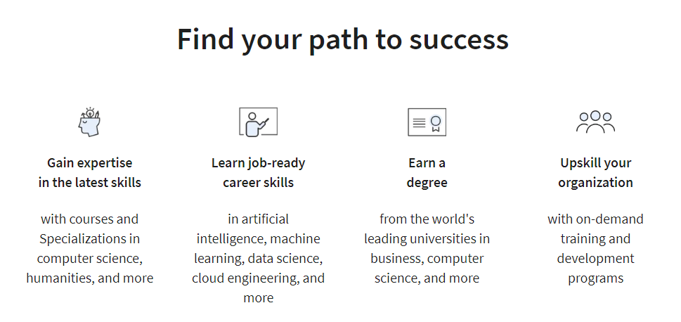 Find path to success with Coursera