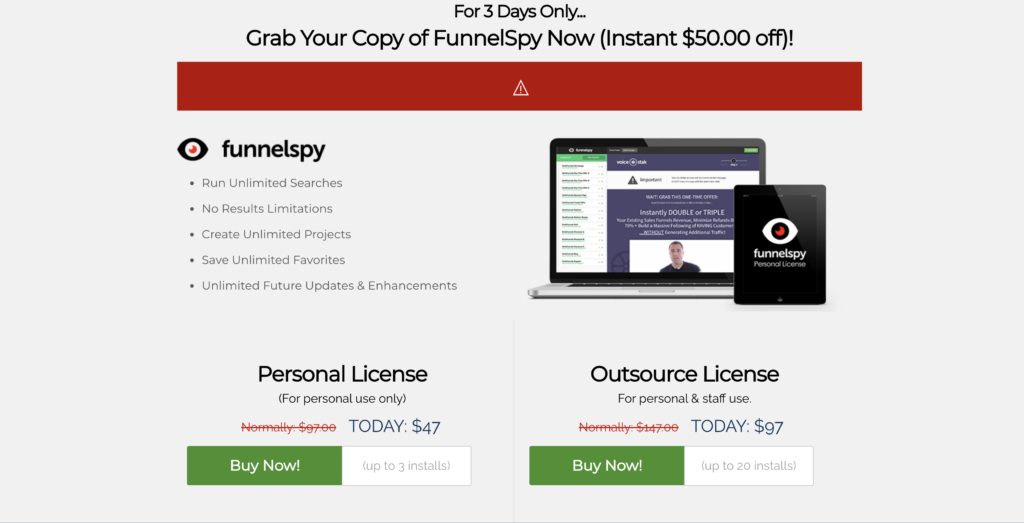 FunnelSpy Pricing Plans