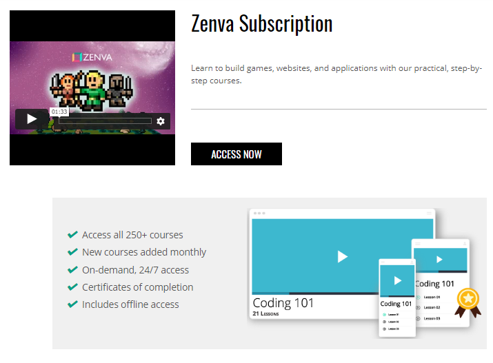How Zenva Academy works