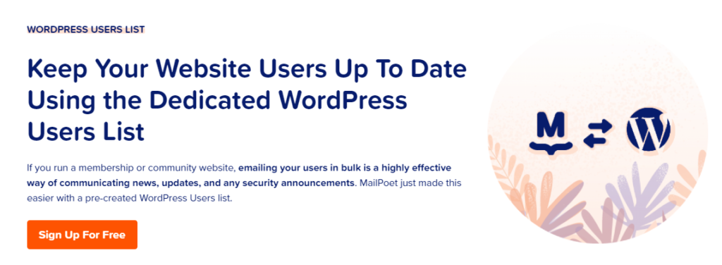 MailPoet-WordPress-users-list