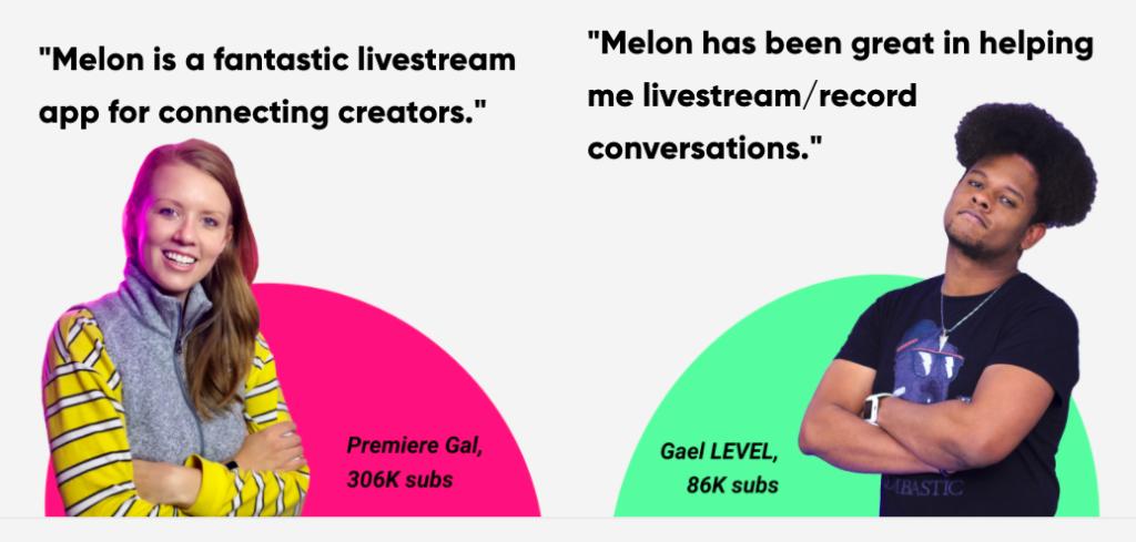 Melon App Live Streaming Studio