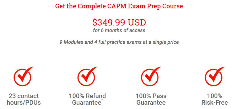 Pricing Plan of CAPM Course - Brain Sensei