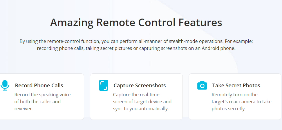 Remote control features Android monitoring KidsGuard Pro