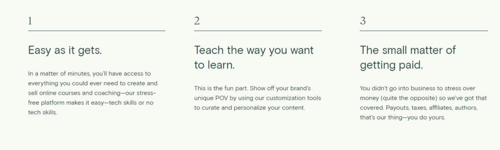 Teachable main 3 features