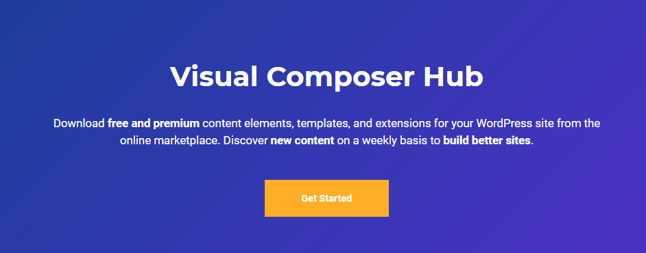 Visual Composer Hub
