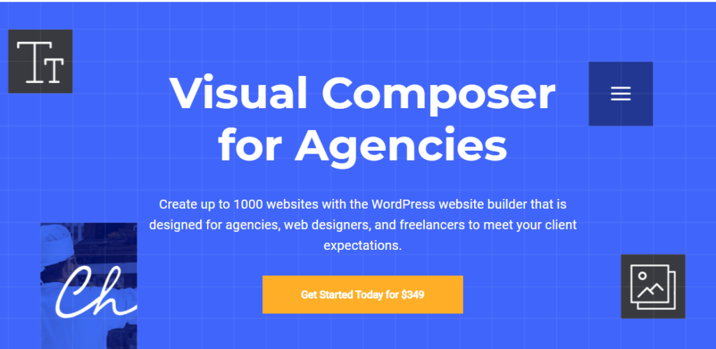 Visual Composer Pricing for Agency