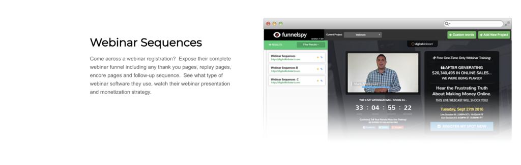Webinar Sequences of FunnelSpy
