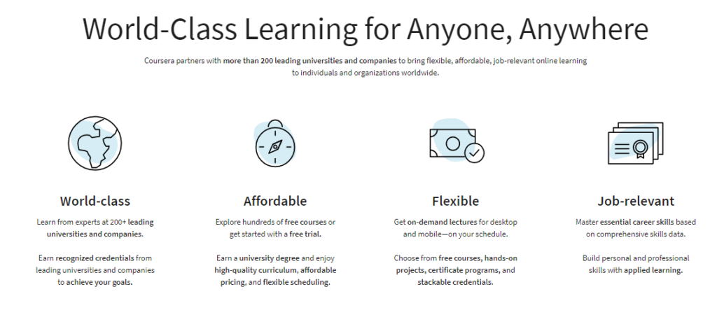 What-Coursera-offers