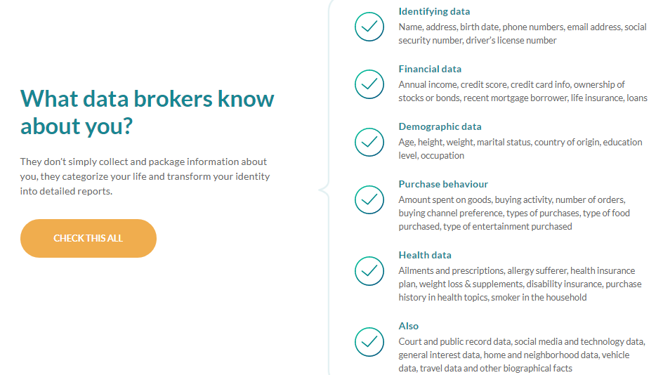 What data brokers know about you - OneRep
