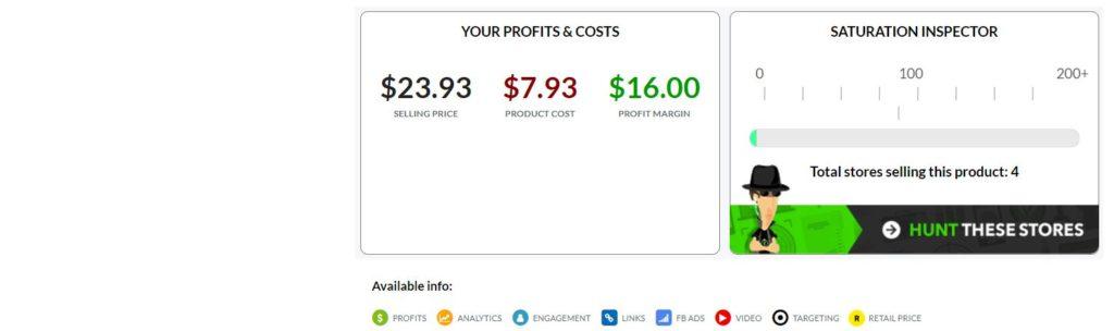 EcomHunt Profits & Costs