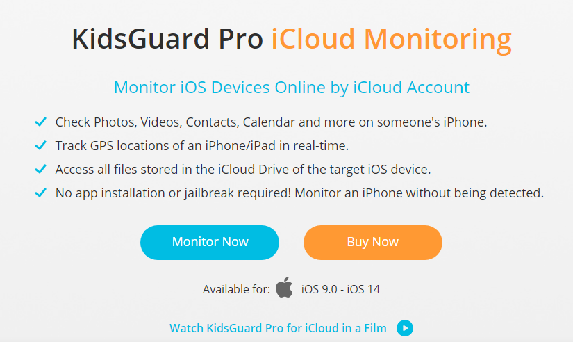 iCloud Monitoring - KidsGuard