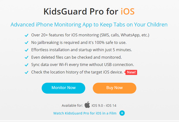 Kidsguard Pro iPhone Monitoring