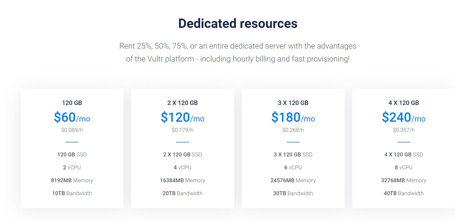 Vultr Dedicated Resources