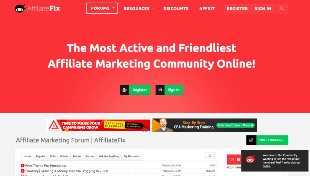 Affiliate Fix Forum