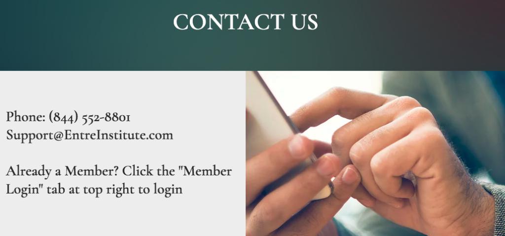 Entre Institute Contact