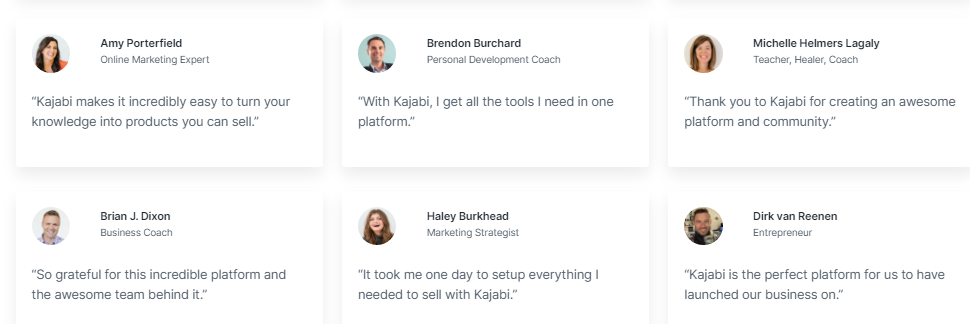 Kajabi Customer reviews