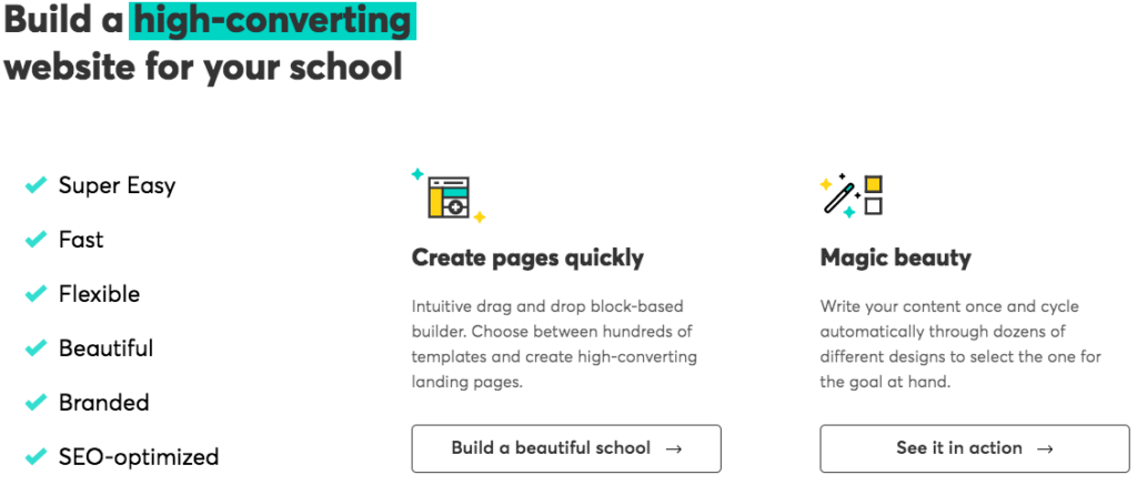 Build Courses For Schools