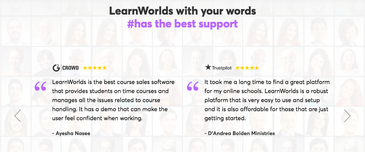 LearnWorlds Reviews By Customer