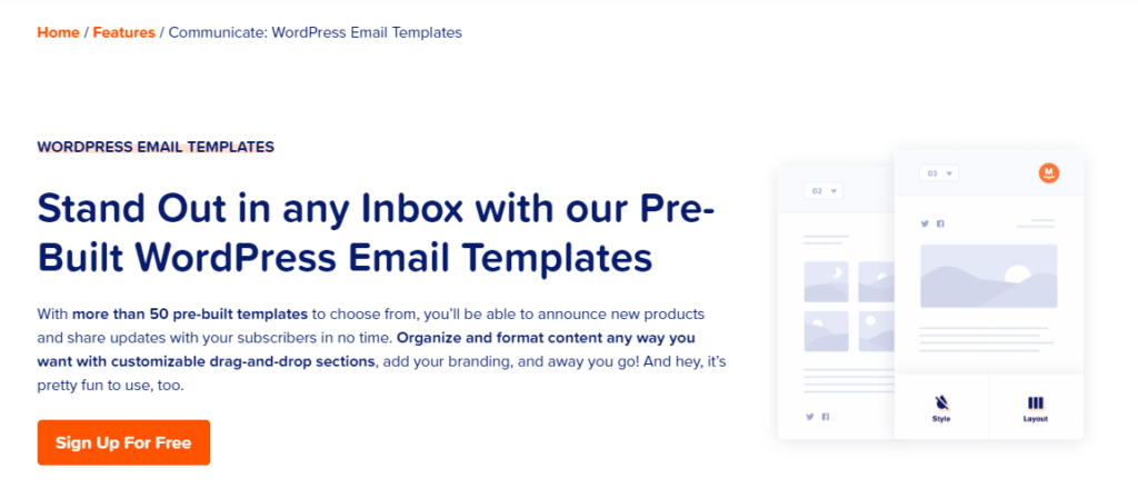 WordPress Email Templates- MailPoet