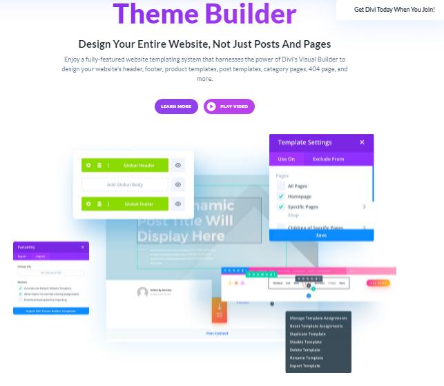 Divi Theme Builder