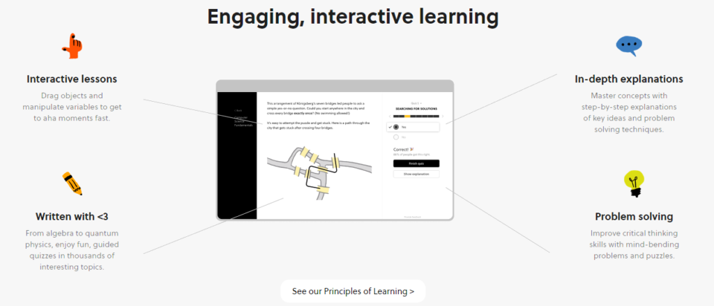 Engaging and Intercative Learning - Brilliant
