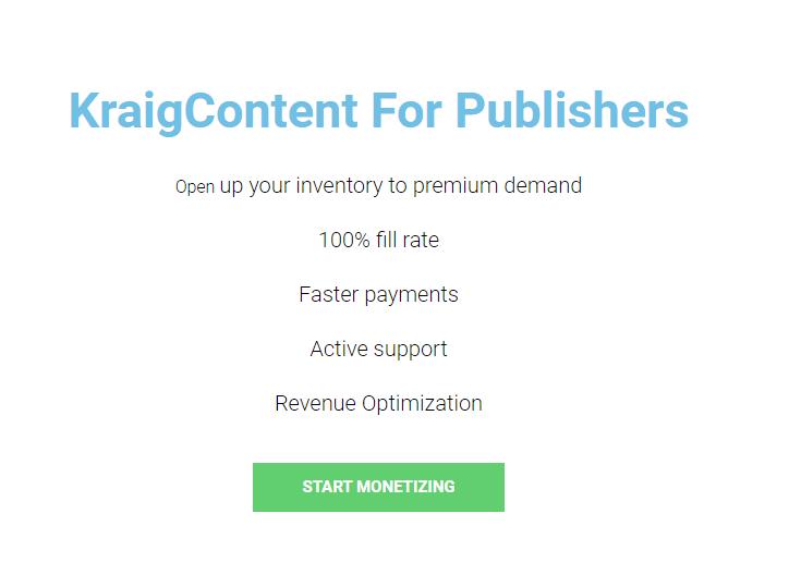 KraigContent for Publishers