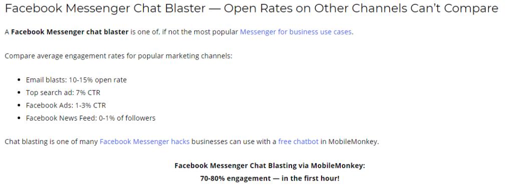 MobileMonkey chat blaster