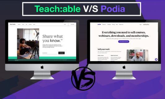 Teachable vs Podia