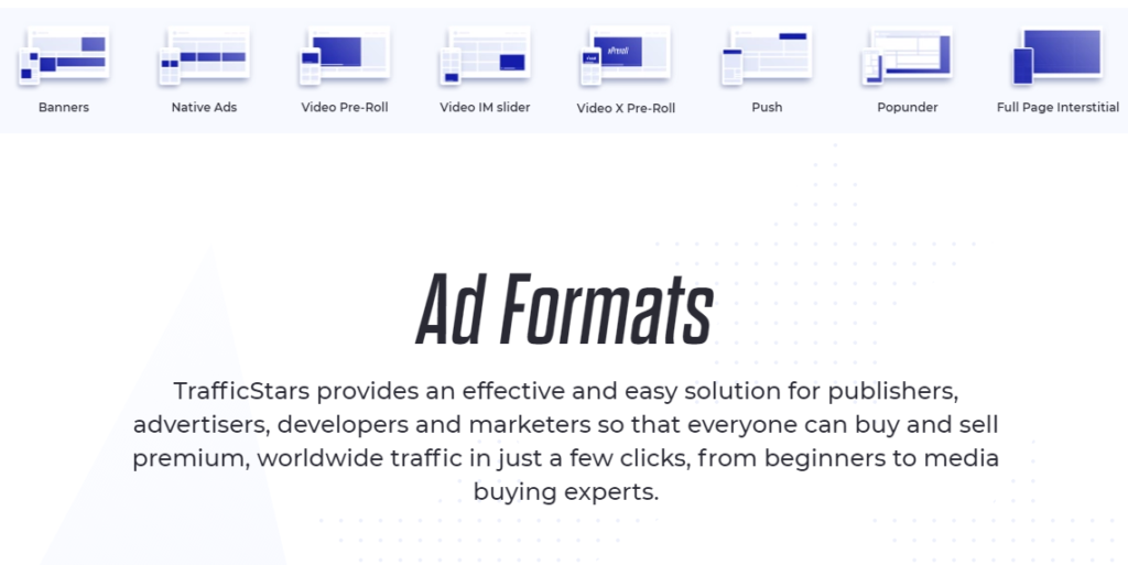TrafficStars - Ad formats