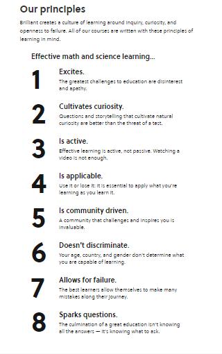 Brilliant learning principles