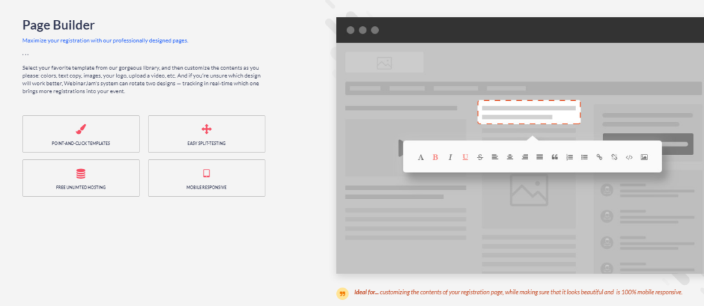 WebinarJam - customize your pages