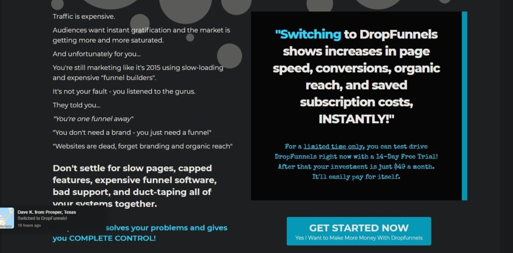 DropFunnels Get Started Now