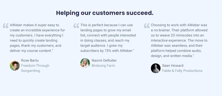 AWeber Customer Reviews