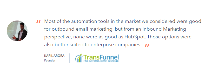 HubSpot Customer Review