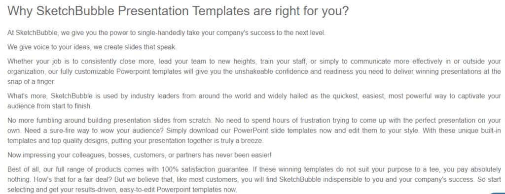 Why choose SketchBubble presentation templates